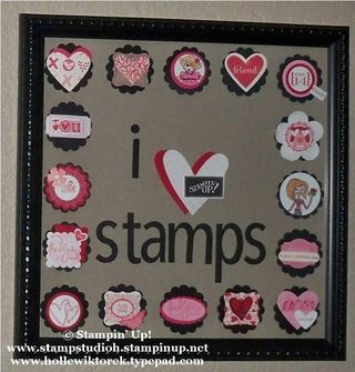 I Love stamps frame