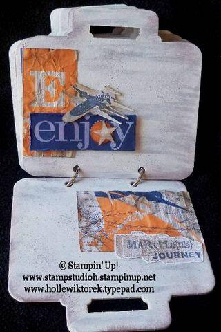 BriefcaseBoardBookPagesTravelTheme