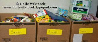 SupplyBoxesatSchool
