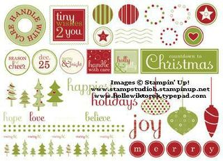 123954L Holly and Jolly Embellishments  Digital Download