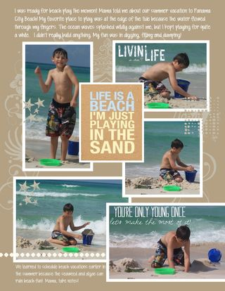 SummerVacationScrapbook Beach page