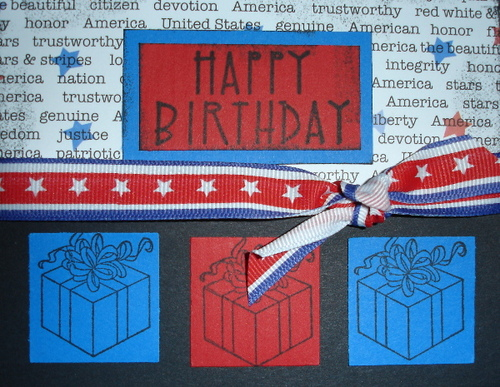 Patriotic Birthday Card